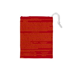 Writing Grace Drawstring Pouches (small)  by MRTACPANS