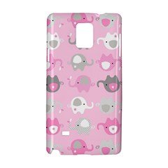 Animals Elephant Pink Cute Samsung Galaxy Note 4 Hardshell Case