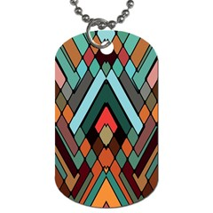 Abstract Mosaic Color Box Dog Tag (one Side) by AnjaniArt