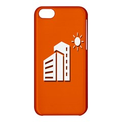 Building Orange Sun Copy Apple iPhone 5C Hardshell Case