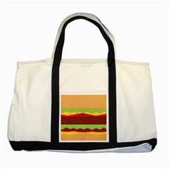 Cake Cute Burger Copy Two Tone Tote Bag by AnjaniArt