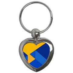 Box Yellow Blue Red Key Chains (heart)  by AnjaniArt