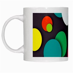 Color Balls White Mugs by AnjaniArt