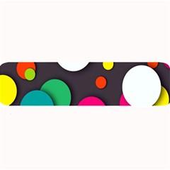 Color Balls Large Bar Mats by AnjaniArt