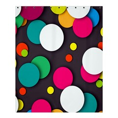 Color Balls Shower Curtain 60  X 72  (medium)  by AnjaniArt