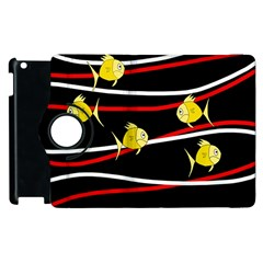 Five Yellow Fish Apple Ipad 3/4 Flip 360 Case by Valentinaart