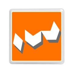 Cute Orange Chevron Memory Card Reader (square)  by AnjaniArt