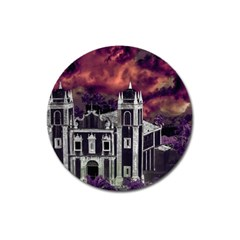 Fantasy Tropical Cityscape Aerial View Magnet 3  (round) by dflcprints