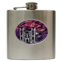 Fantasy Tropical Cityscape Aerial View Hip Flask (6 Oz) by dflcprints