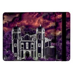 Fantasy Tropical Cityscape Aerial View Samsung Galaxy Tab Pro 12 2  Flip Case by dflcprints