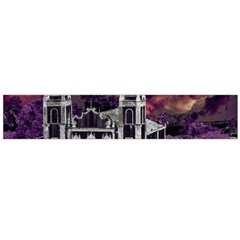 Fantasy Tropical Cityscape Aerial View Flano Scarf (large)  by dflcprints