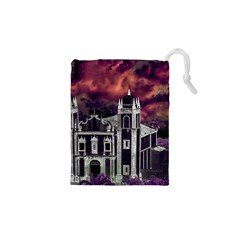 Fantasy Tropical Cityscape Aerial View Drawstring Pouches (xs)  by dflcprints
