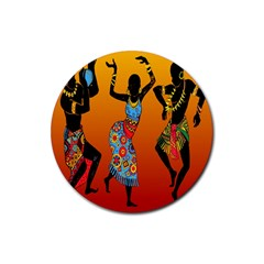 Dancing Rubber Round Coaster (4 Pack)  by AnjaniArt
