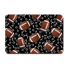 Football Player Small Doormat  by AnjaniArt