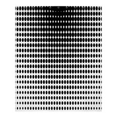 Dark Circles Halftone Black White Copy Shower Curtain 60  X 72  (medium)  by AnjaniArt