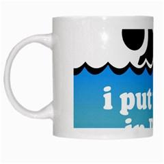 Funny Swiming Water White Mugs by AnjaniArt