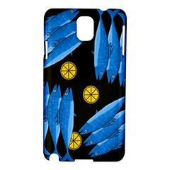Mackerel Meal Samsung Galaxy Note 3 N9005 Hardshell Case by Valentinaart