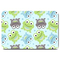 Frog Green Large Doormat  by AnjaniArt