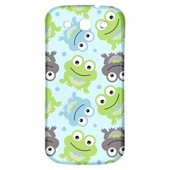 Frog Green Samsung Galaxy S3 S Iii Classic Hardshell Back Case by AnjaniArt