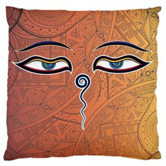 Face Eye Large Flano Cushion Case (two Sides) by AnjaniArt
