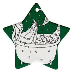 Green Mermaid Ornament (Star)  by AnjaniArt