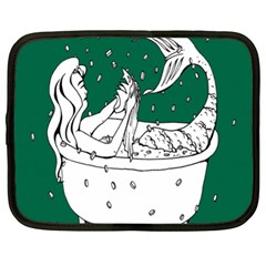 Green Mermaid Netbook Case (xl)  by AnjaniArt