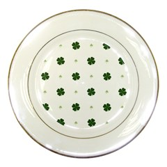 Green Leaf Porcelain Plates by AnjaniArt