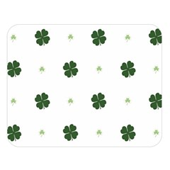 Green Leaf Double Sided Flano Blanket (large)  by AnjaniArt