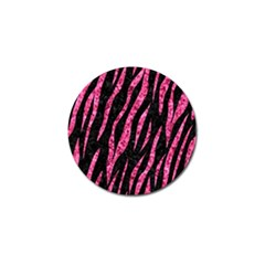 Skin3 Black Marble & Pink Marble Golf Ball Marker by trendistuff