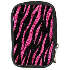 Skin3 Black Marble & Pink Marble Compact Camera Leather Case by trendistuff