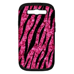 Skin3 Black Marble & Pink Marble (r) Samsung Galaxy S Iii Hardshell Case (pc+silicone) by trendistuff