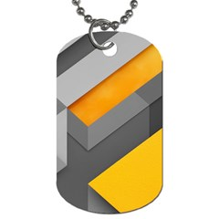 Marshmallow Yellow Dog Tag (one Side) by AnjaniArt