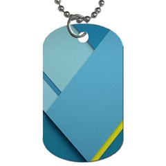 New Bok Blue Dog Tag (two Sides) by AnjaniArt