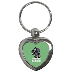 Pet Squirrel Green Nuts Key Chains (heart)  by AnjaniArt