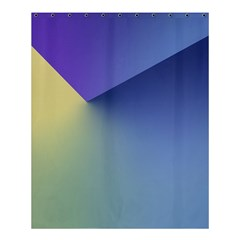 Purple Yellow Shower Curtain 60  X 72  (medium)  by AnjaniArt