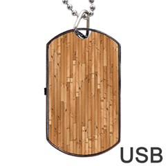 Parquet Floor Dog Tag Usb Flash (two Sides)  by AnjaniArt