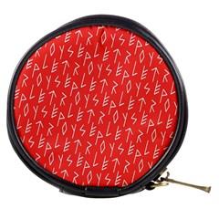 Red Alphabet Mini Makeup Bags by AnjaniArt