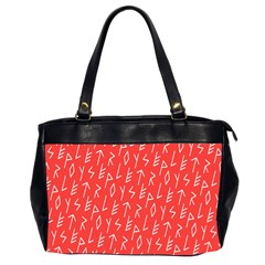 Red Alphabet Office Handbags (2 Sides)  by AnjaniArt