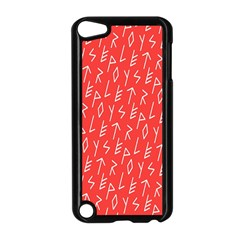 Red Alphabet Apple Ipod Touch 5 Case (black) by AnjaniArt
