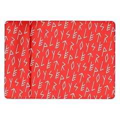 Red Alphabet Samsung Galaxy Tab 10 1  P7500 Flip Case by AnjaniArt