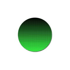 Neon Green And Black Halftone Copy Golf Ball Marker by AnjaniArt