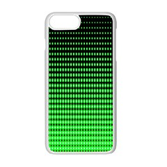 Neon Green And Black Halftone Copy Apple iPhone 7 Plus White Seamless Case by AnjaniArt