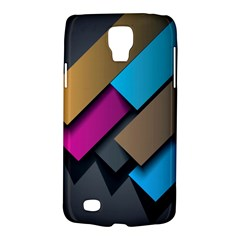 Shapes Box Brown Pink Blue Galaxy S4 Active by AnjaniArt
