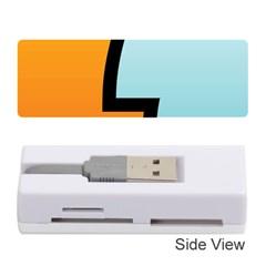 Two Fafe Orange Blue Memory Card Reader (Stick)