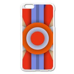 Round Color Copy Apple Iphone 6 Plus/6s Plus Enamel White Case by AnjaniArt