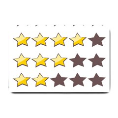 Star Rating Copy Small Doormat  by AnjaniArt