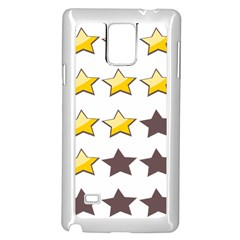 Star Rating Copy Samsung Galaxy Note 4 Case (white) by AnjaniArt