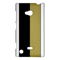 Black Brown Gold White Stripes Elegant Festive Stripe Pattern Nokia Lumia 720 by yoursparklingshop