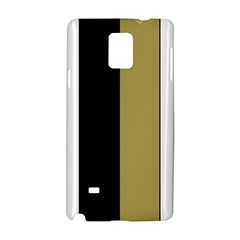 Black Brown Gold White Stripes Elegant Festive Stripe Pattern Samsung Galaxy Note 4 Hardshell Case by yoursparklingshop