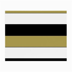 Black Brown Gold White Horizontal Stripes Elegant 8000 Sv Festive Stripe Small Glasses Cloth by yoursparklingshop